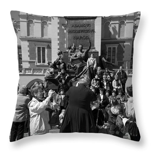 Priest Throw Pillow featuring the photograph The Priest As Photographer by Robert Lacy