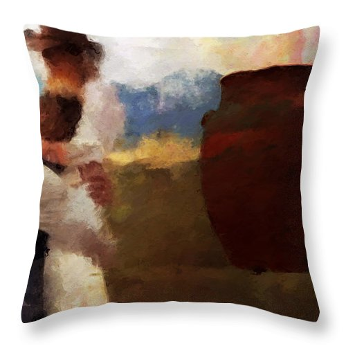 Prodigal Son Throw Pillow featuring the digital art The Prodigal Son by David Derr