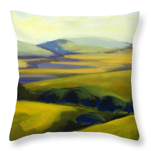 California Throw Pillow featuring the painting The Promise 4 by Konnie Kim