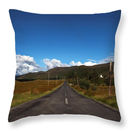 Photography Throw Pillow featuring the photograph The R300 Road At Finny, County Mayo by Panoramic Images