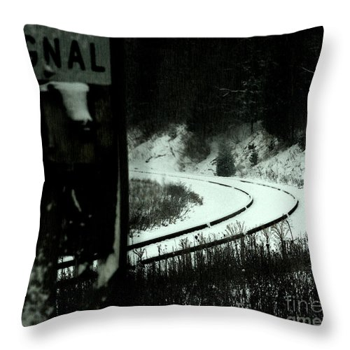 Rail Throw Pillow featuring the photograph The Rail To Anywhere by Linda Shafer