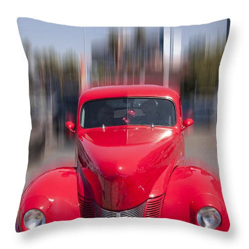 Retro Throw Pillow featuring the photograph The Red Flash by Brenda Kean