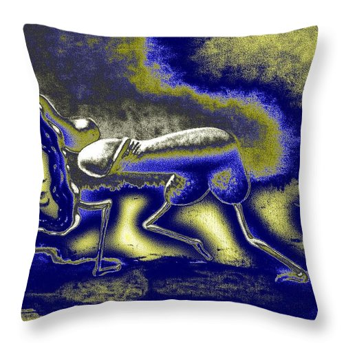 Genio Throw Pillow featuring the mixed media The Result Of Yearning by Genio GgXpress