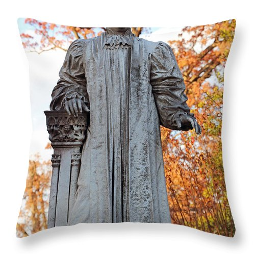William Throw Pillow featuring the photograph The Right Reverend William Pinkney by Cora Wandel