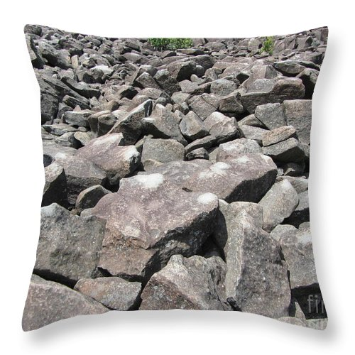 Ring Throw Pillow featuring the photograph The Ringing Rocks Of Bucks County by Susan Carella