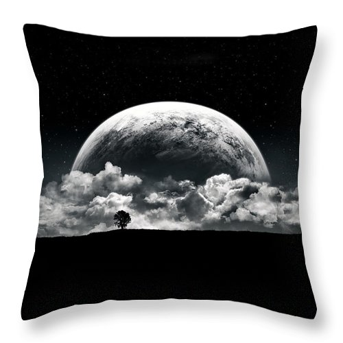 Planet Throw Pillow featuring the digital art The Rise Of A Planet II by Tobias Roetsch