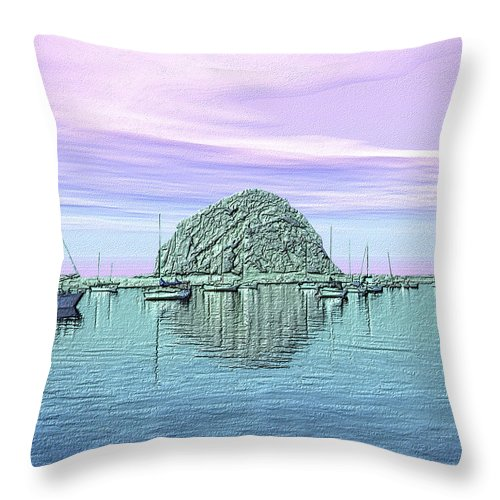 Seascape Throw Pillow featuring the photograph The Rock by Kurt Van Wagner