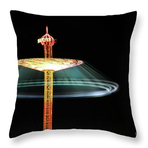 Wiesn Throw Pillow featuring the photograph The Rotating Skirt by Hannes Cmarits