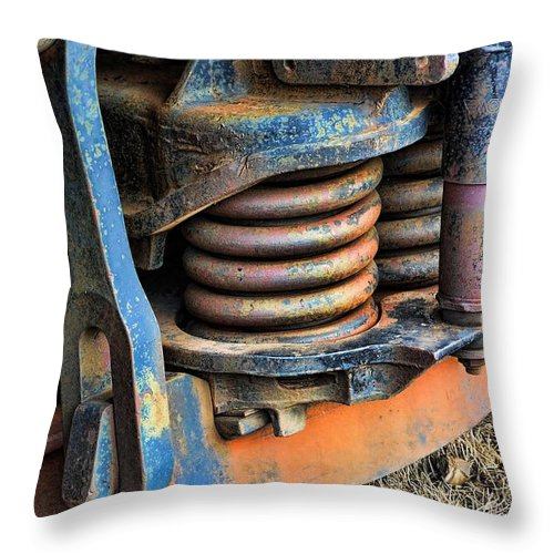 Evanston Throw Pillow featuring the photograph The Roundhouse Evanston Wyoming Dining Car - 2 by Ely Arsha