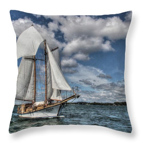 The Rover Throw Pillow featuring the photograph The Rover by Lori Deiter