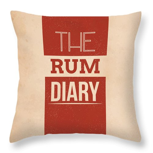 Vintage Throw Pillow featuring the mixed media The Rum Diary by Mike Taylor