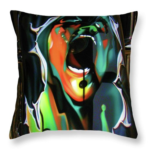 Pink Floyd Throw Pillow featuring the photograph The Scream - Pink Floyd by Susan Carella