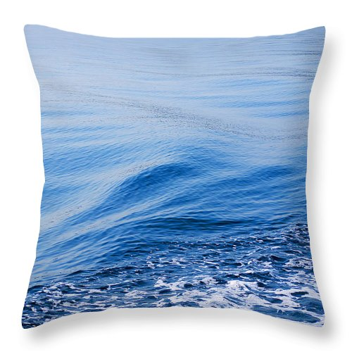 Corfu Throw Pillow featuring the photograph The Sea Carries All Away by Brenda Kean