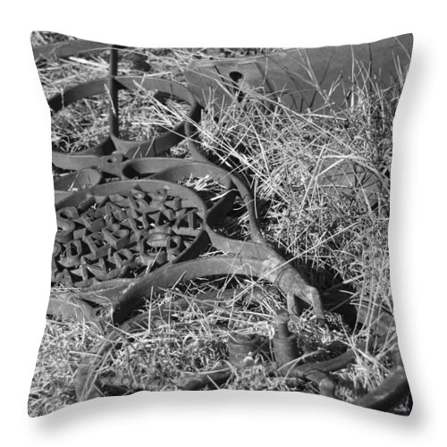 Antique Throw Pillow featuring the photograph The Sewing Machine by Gordon Collins