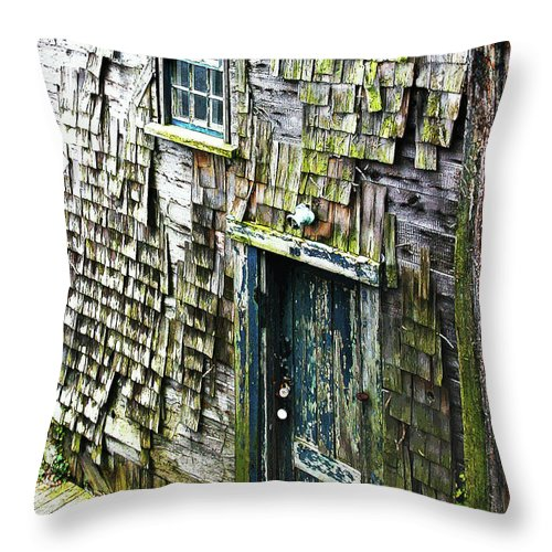 The Shack Throw Pillow featuring the photograph The Shack by Michelle Constantine
