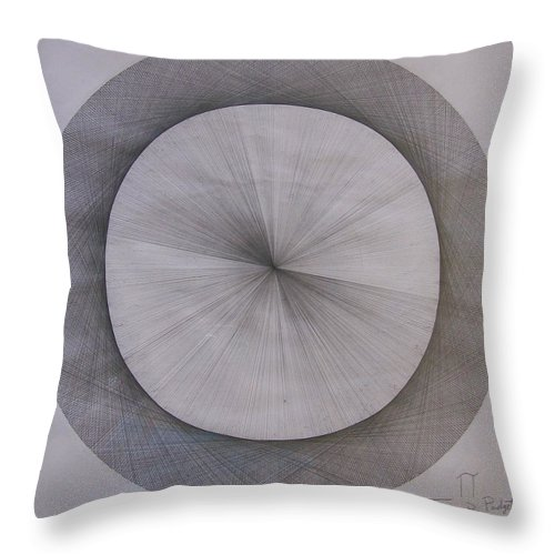 Pi Throw Pillow featuring the drawing The Shape Of Pi by Jason Padgett