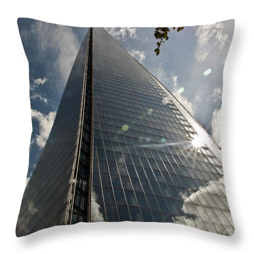Design Throw Pillow featuring the photograph The Shard by Daniela White