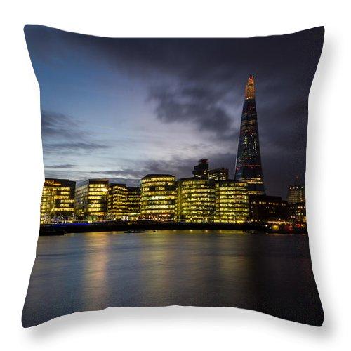 Shard Throw Pillow featuring the photograph The Shard by Ken Brannen