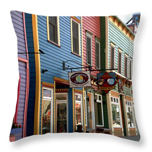 Landscape Throw Pillow featuring the photograph The Shops In Crested Butte by RC DeWinter