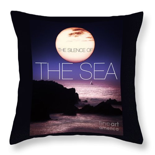 The Throw Pillow featuring the photograph The Silence Of The Sea by Edmund Nagele
