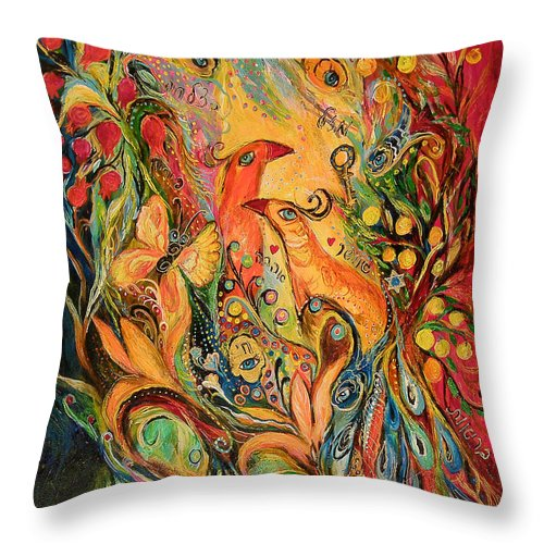 Original Throw Pillow featuring the painting The Silent Song by Elena Kotliarker