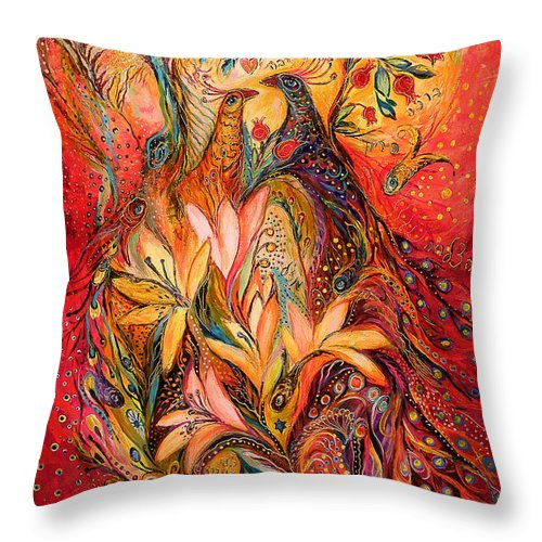 Original Throw Pillow featuring the painting The Sirocco by Elena Kotliarker
