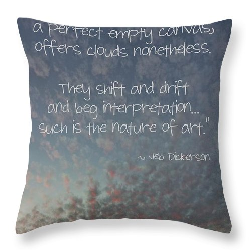 Relaxing Throw Pillow featuring the photograph The Sky by Peggy Hughes