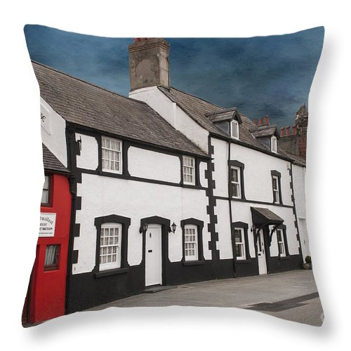 Architecture Throw Pillow featuring the photograph The Smallest House In Great Britain by Juli Scalzi