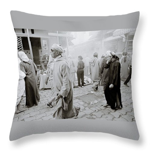 Africa Throw Pillow featuring the photograph The Souk by Shaun Higson