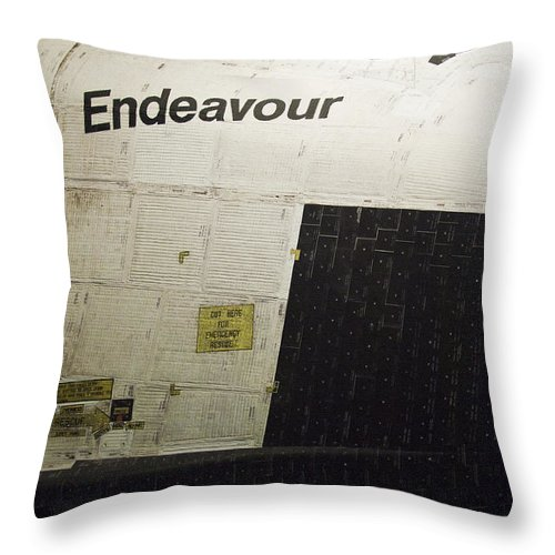 Space Shuttle Endeavour Throw Pillow featuring the photograph The Space Shuttle Endeavour 13 by Micah May