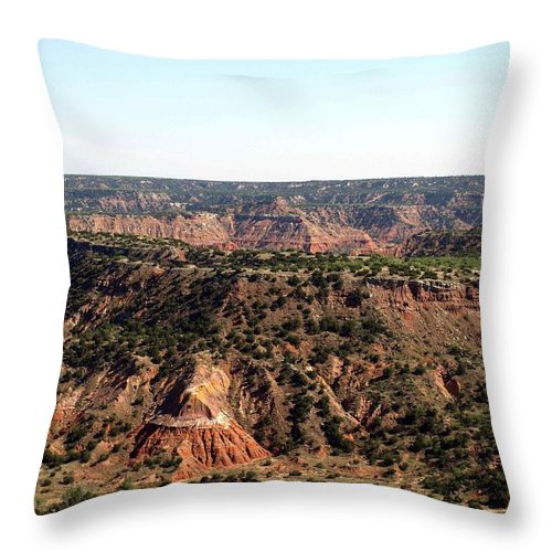 Palo Duro Canyon Throw Pillow featuring the photograph The Spanish Skirts by Valerie Mellema