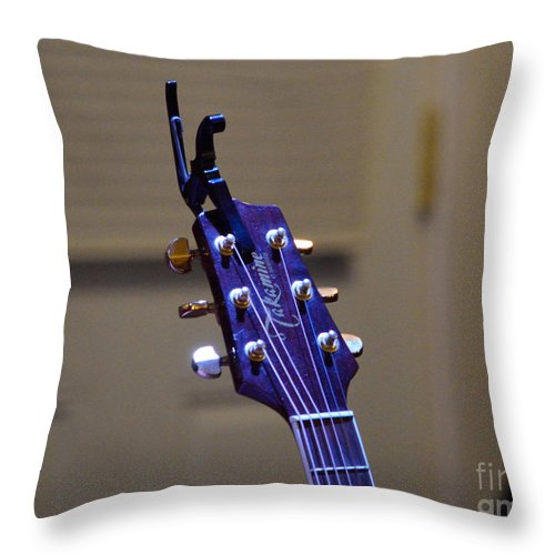 On Stage Throw Pillow featuring the photograph The Stage Awaits II by Alys Caviness-Gober