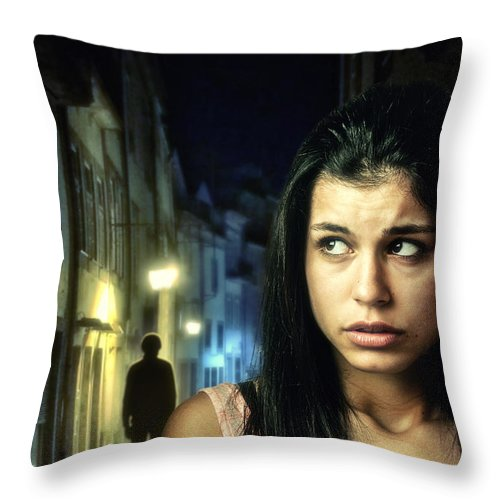 Dark Throw Pillow featuring the photograph The Stalker by Carlos Caetano