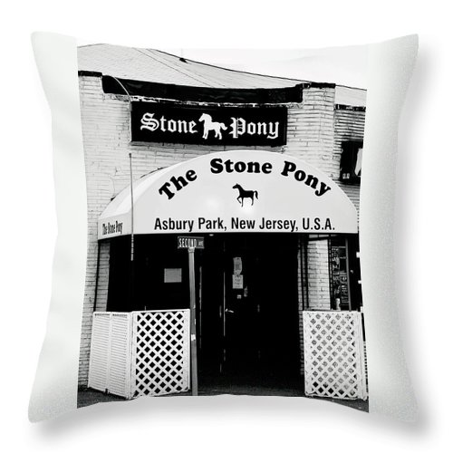 Stone Pony Throw Pillow featuring the photograph The Stone Pony Asbury Park NJ by Terry DeLuco
