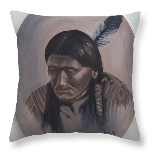 Michael Throw Pillow featuring the painting The Story Teller by Michael TMAD Finney