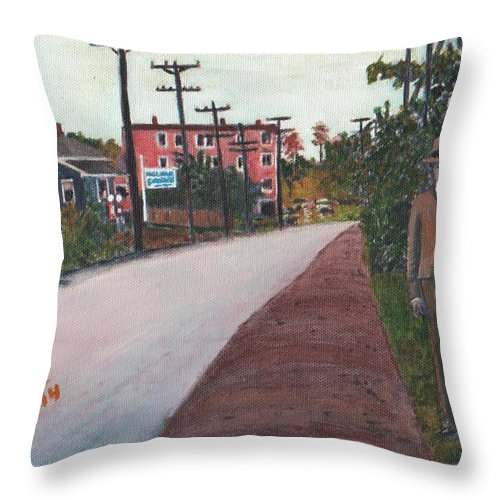 Ashland Throw Pillow featuring the painting The Stranger by Cliff Wilson
