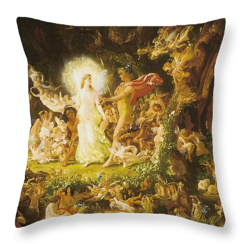 The Stuff That Dreams Are Mad Of Throw Pillow featuring the digital art The Stuff That Dreams Are Mad Of by John Anst Fitzgerald