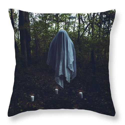 Horror Throw Pillow featuring the photograph The Summoning by Geoff Petitt