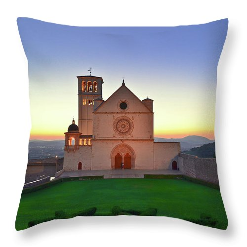 Tranquility Throw Pillow featuring the photograph The Sun Sets Behind St. Francis by Sir Francis Canker Photography