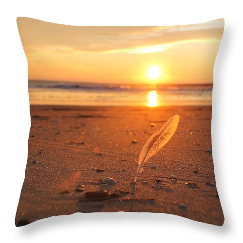 Sun Throw Pillow featuring the photograph The Sunrise Story by Robert Banach