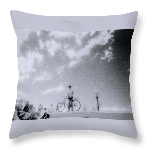 Surreal Throw Pillow featuring the photograph A Surreal Day by Shaun Higson