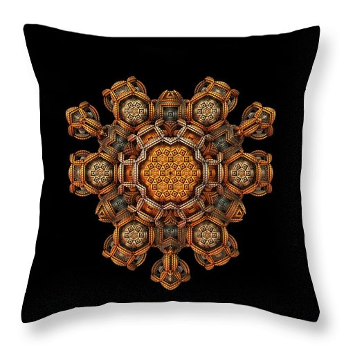 Fractal Throw Pillow featuring the digital art The Talisman by Lyle Hatch