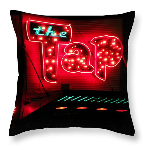The Tap Throw Pillow featuring the photograph the Tap by M Pace