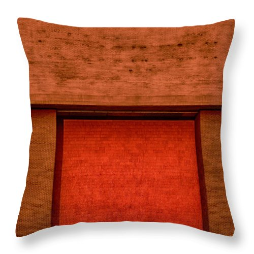 Urban Throw Pillow featuring the photograph The Temple Door by Mick Logan