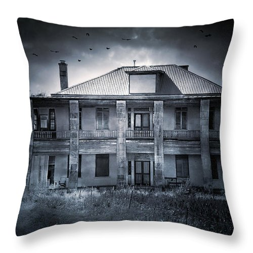Abandoned Throw Pillow featuring the photograph Tcm #9 by Trish Mistric