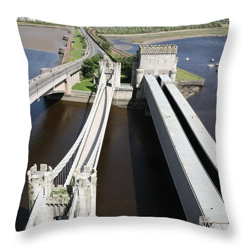 Bridges Throw Pillow featuring the photograph The Three Bridges. by Christopher Rowlands