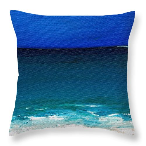 Seashore Throw Pillow featuring the painting The Tide Coming In by Frances Marino