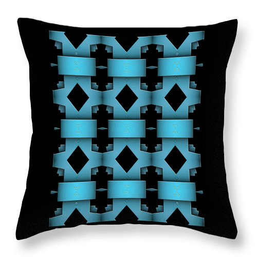 Abstract Art Throw Pillow featuring the digital art The Toltecas by Raul Ugarte