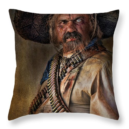 Man Throw Pillow featuring the photograph The Tombstone Bandito by Barbara Manis