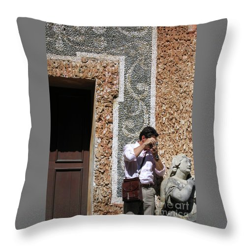 Austria Throw Pillow featuring the photograph The Tourist And His Lady by Ann Horn